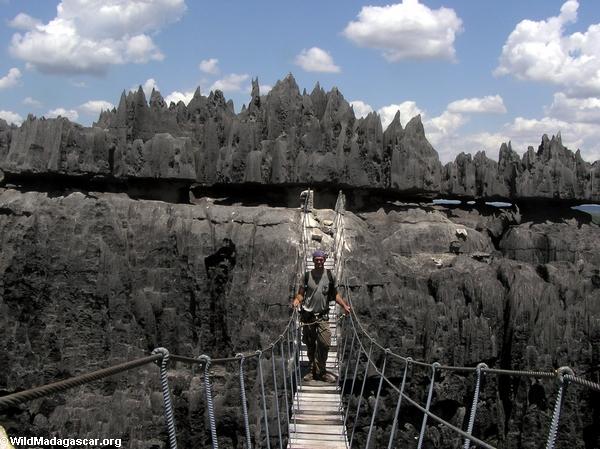rhett tsingy bridge (Tsingy de Bemaraha)