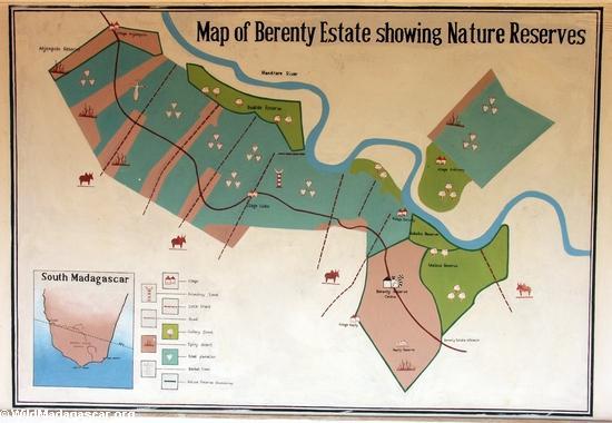 Map of Berenty(Berenty)
