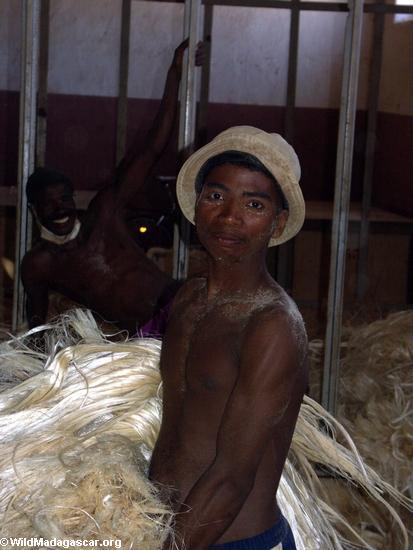 Andranobory sisal worker (Berenty)