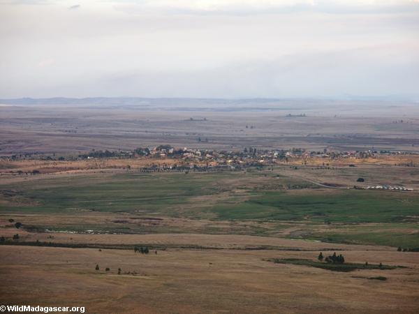 Aerial view of Ranohira (Isalo)