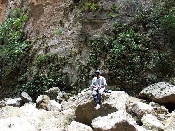 Guide Joel in Canyon de Singes (Isalo)