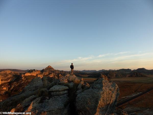 Rhett at sunrise in Isalo (Isalo)