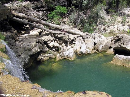 Waterfall on Oly creek (Manambolo)