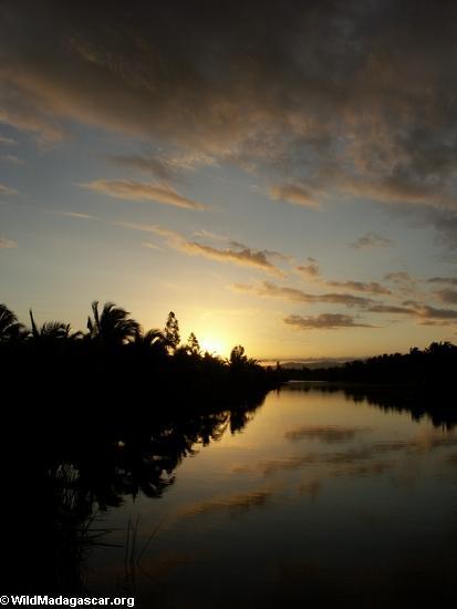 Sunset over Maroantsetra lagoon (Maroantsetra)