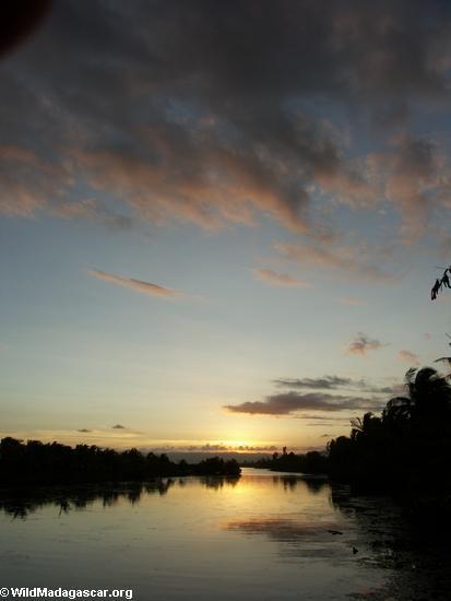Maroantsetra Sonnenuntergang