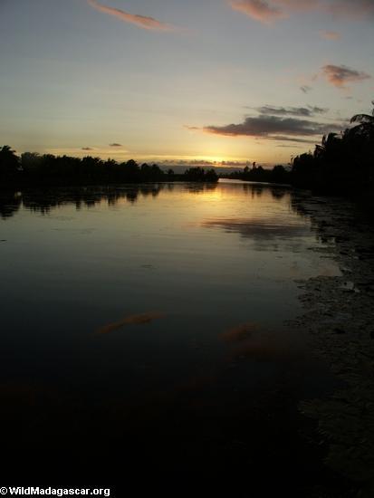 Sunset over Maroantsetra canal (Maroantsetra)