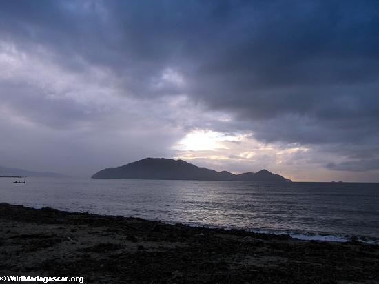 Sunset over Nosy Mangabe (Maroantsetra)