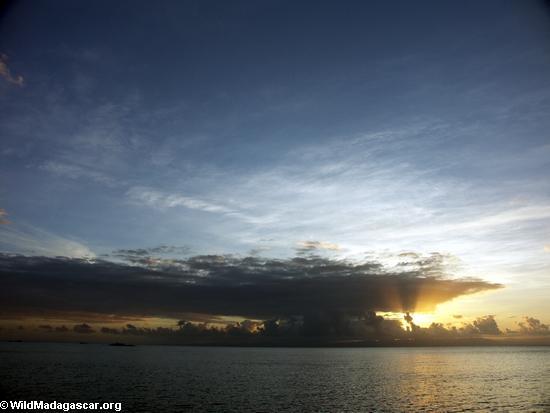 Sonnenuntergang in Masoala NP