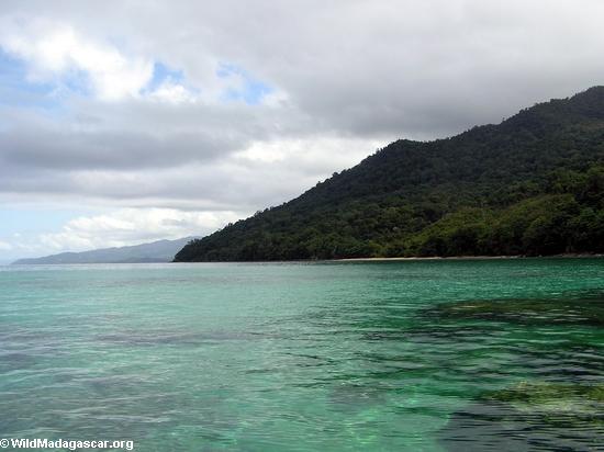 Бухта antongil коралловые рифы