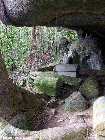 Nosy Mangabe coffins (Nosy Mangabe)