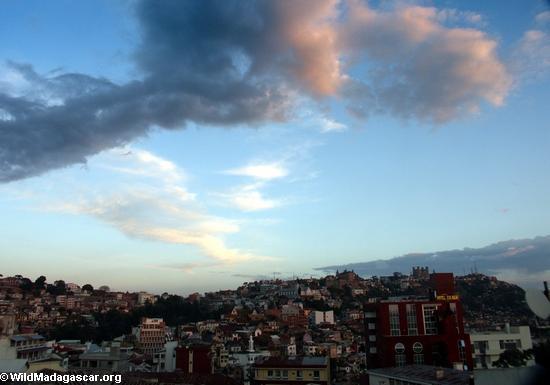 Sunset over Antananarivo (Tana)