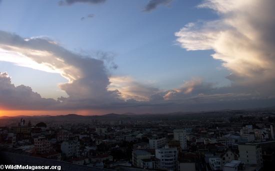 Sunset over Antananarivo(Tana)