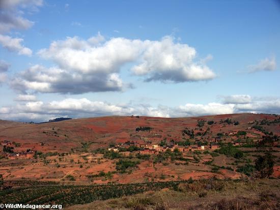 Landschaft entlang Straße von Fianarantsoa