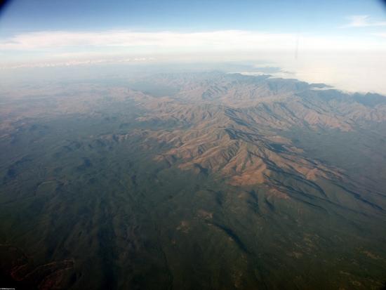 Аэрофотоснимок сухих лесов