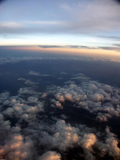 Sunset over highlands of Madagascar (Fort Dauphin - Tana Flight)