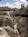 Rope bridge across tsingy (Tsingy de Bemaraha)