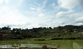 Rice fields in the highlands along RN7 in central Madagascar outside of Antananarivo (RN7)