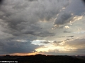 Approaching storm at sunset in Isalo National Park (Isalo)