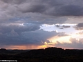 Approaching rainstorm at sunset in Isalo National Park (Isalo)