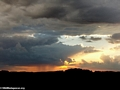 Approaching rain at sunset in Isalo National Park (Isalo)