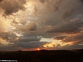 Distant rain at sunset in Isalo National Park (Isalo)