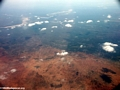 Aerial view of deforestation and erosion in southern Madagascar (Isalo) [tulear_ftdau_flight0156]