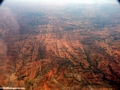 Aerial view of deforestation and erosion in southern Madagascar (Isalo)