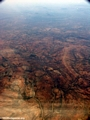 Aerial view of deforestation and erosion in southern Madagascar (Isalo) [tulear_ftdau_flight0164]