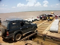 Car ferry on the Tsiribihina river (Kirindy)