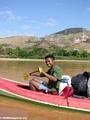 Benja in canoe (Manambolo)