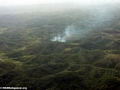 Agricultural fires in rain forests of Madagascar (Maroantsetra to Tamatave)