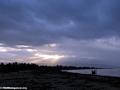 Sunset over maroantsetra beach (facing east) (Maroantsetra)