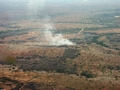 Aerial view of fire in western Madagascar (Tulear)