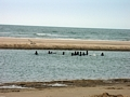 Children playing in ocean off Morondava (Morondava)