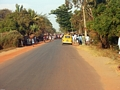 Funeral celebration on road in Morondava (Morondava)