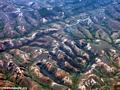 Aerial view of deforestation in eastern Madagascar (Airplane flight from Anatananarivo to Maroantsetra)