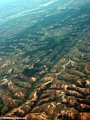 View from plane of deforestation in Madagascar (Airplane flight from Anatananarivo to Maroantsetra)