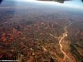 Bird's eye view of environmental degradation in Madagascar (Airplane flight from Anatananarivo to Maroantsetra)