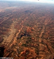 Deforestation in Madagascar (view from plane) (Airplane flight from Anatananarivo to Maroantsetra)