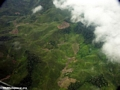 Aerial view of rainforest deforestation in Madagascar (Airplane flight from Anatananarivo to Maroantsetra)