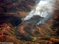 Aerial view of burning in Madagascar (Airplane flight from Anatananarivo to Maroantsetra)