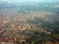 Deforestation and forest fragments in Madagascar (Airplane flight from Anatananarivo to Maroantsetra)