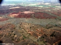 Aerial view of dry rice fields in western Madagascar (Flight from Tana West)