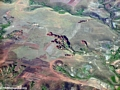 Airplane view of deforestation-induced erosion in western Madagascar (Flight from Tana West)