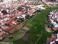 Aerial view of rice paddies in Antananarivo (Flight from Tana West)