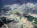Aerial view of village in Western Madagascar (Flight from Tana West)