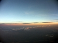 Sunset over highlands of Madagascar (Fort Dauphin - Tana Flight)
