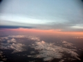 Sunset over highlands of Madagascar (Fort Dauphin - Tana Flight) [ftdaph-tana_flight0061]